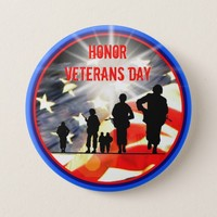 Honor Veterans Day Button