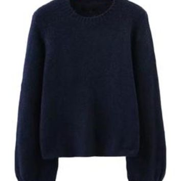 'Celeste' Soft Knit Bell Sleeve Crewneck Sweater (4 Colors)