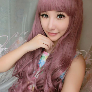 cosplay wig bob wig wigs  Super long curly red wig. Ariel Mermaid Lolita short wig human hair wigs lolita red wig red wigs
