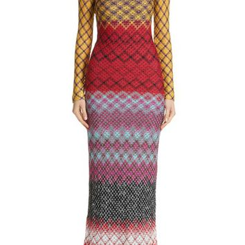 Missoni Metallic Knit Maxi Dress | Nordstrom