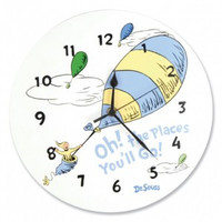 Dr. Seuss Oh! The Places You'll Go! Blue Wall Clock