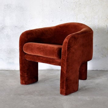 1970s Mid-Century Modern Retro Lounge Chair Attributed to Vladimir Kagan