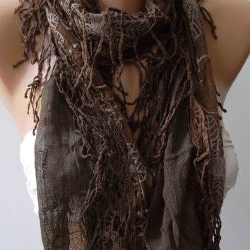 Chocolate - Elegant  Shawl
