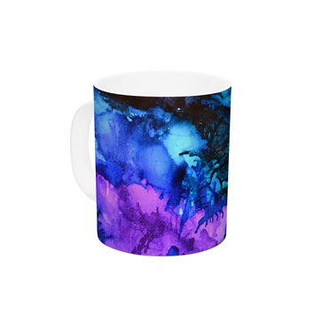 "Claire Day ""Soul Searching"" Blue Purple Ceramic Coffee Mug"
