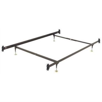 Twin size Sturdy Metal Bed Frame with Hook-on Headboard Footboard Brackets