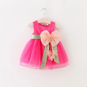 Hot New Infant Baby Girl Tutu Dress Kids Cute Lace Flower Summer Party Princess Dresses baby girl Christmas Clothes