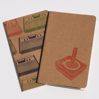 80's Gaming Moleskines, Atari pocket journals, stocking stuffer