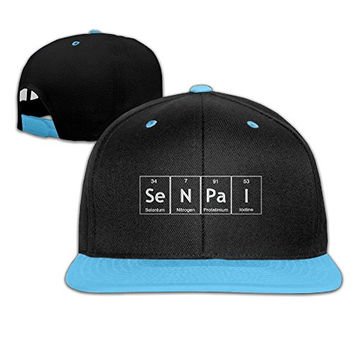 HIPOP SeNPaI Periodic Table Element Word Chemistry Contrast Color Snapback Baseball Cap With RoyalBlue For Youth