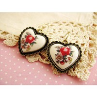 Colorful Ceramic Heart Earrings - Accessory - Retro, Indie and Unique Fashion
