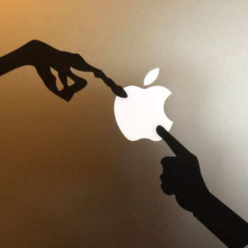 E.T. the Extra-Terrestrial decal - ET Finger Decal -  Vinyl Decal - Apple logo - CHOOSE A COLOR! - Macbook Lightup art