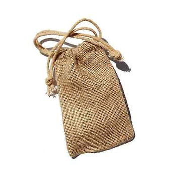 Burlap Favor Bags with Drawstrings, 12-pack, 3-inch x 5-inch