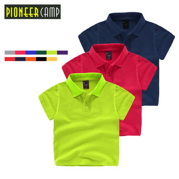 Kids 3-10Y 100% Cotton Kids Boys Polo Shirt Baby Boy Girl Clothes Summer Short Sleeve Cotton Solid For Baby