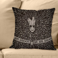 I Am & We Are groot the guardians of galaxy on Decorative Pillow Cover