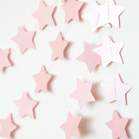 Paper garland, star garland, wedding garland, holidays decor, christmas garland, holidays garland, new year christmas decor for home pink