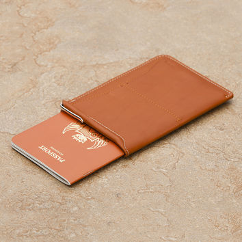 Passport Sleeve Wallet Tan