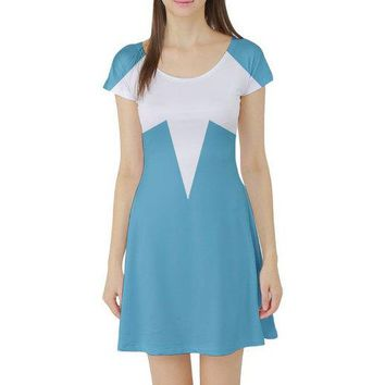 Frozone The Incredibles Inspired Short Sleeve Skater Dress
