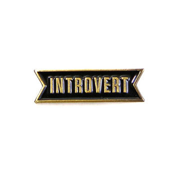 Introvert Lapel Pin