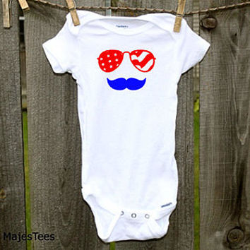 4th of July Onesuits®, Sunglasses, Mustache