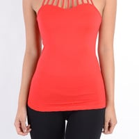 Strappy Collar Halter Top