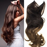Easy Hair Extensions - Wired Hair Extensions- Ombre Colors
