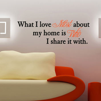 Who I Share My Home With Quote Vinyl Decal Wall Sticker