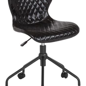 Somerset Home and Office Upholstered Task Chair in Black Vinyl [LF-9-07-BLK-GG]
