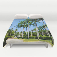 Tropical Duvet Cover Palm Trees Duvet Cover Caribbean Duvet Cover Island Living Duvet Cover Nature Duvet Cover Blue Sky Duvet Cover