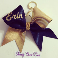 TicToc Monogram Name Keychain Bow __ Select Color and Name