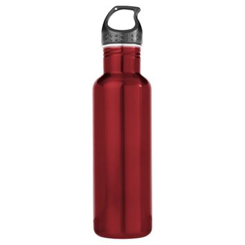 Red Stainless Steel Water Bottle Create Your Own 24oz Water Bottle