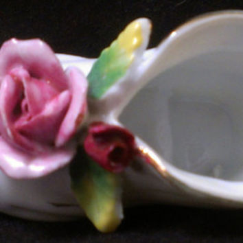 Porcelain Shoe with Roses - Occupied Japan (328)