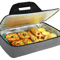 Thermal Food Carrier, Houndstooth, Coolers & Thermal Bags