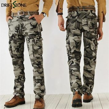 Quality military Camouflage pants overalls male army casual cargo pants tactical combat pants plus size
