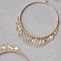 AEO Delicate Gold Frontal Hoop Earring, Gold