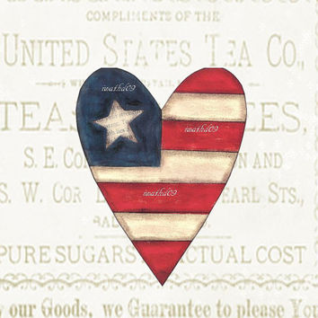 Patriotic flag instant download 300 dpi commercial use jpeg primitive digital art housewarming gift Americana wall art home decor
