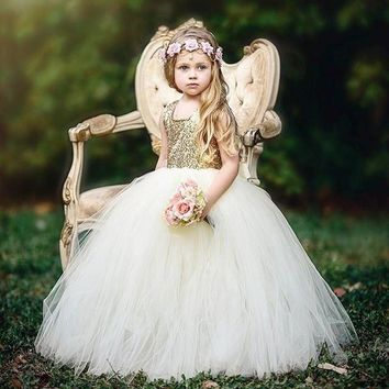 Flower Girl Dress Pageant Birthday Party Wedding Bridesmaid Dress Ball Gown