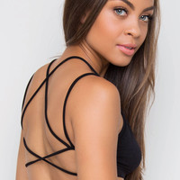 Let's Roll Bralette - Black