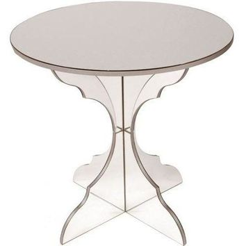 Pre-owned Arteriors Simone Mirrored Side Table