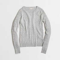 Factory wool-blend cable-knit sweater