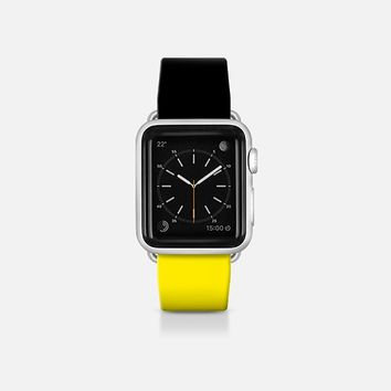 Black and yellow  - Bicolor collection Apple Watch Band (38mm)  by WAMDESIGN | Casetify