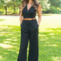 Never Riding Solo Jumpsuit, Black