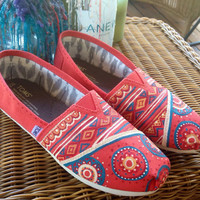 Hand painted tribal toms