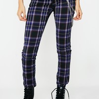 Violet Tartan Plaid Pants