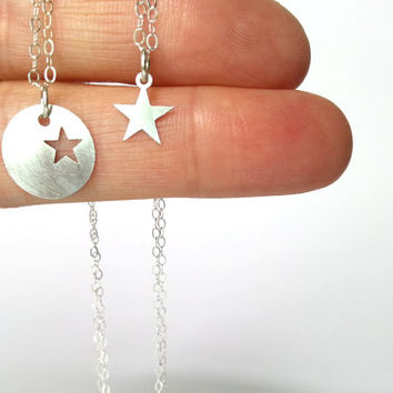 Mother child necklace star