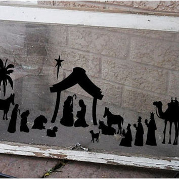 Christmas Nativity Vinyl Decal  Large