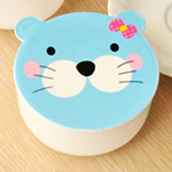 Kawaii Candy Color Cartoon Patterns Tableware package Microwave Oven Bento Container Case Dinnerware Children Birthday Gift