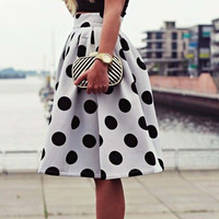 Polka Dot Retro Print Tutu Skirt
