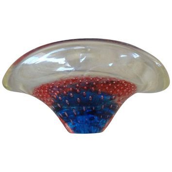 Pre-owned Murano Glass Bubble Candy Dish