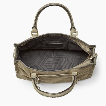Regan Satchel Tote | Olive Structured Shoulder Bag