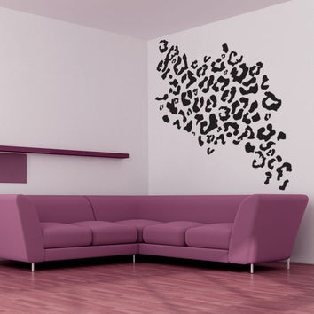 Vinyl Wall Decal Sticker Leopard Print #1029