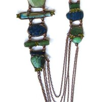 Long Turquoise Copper Necklace